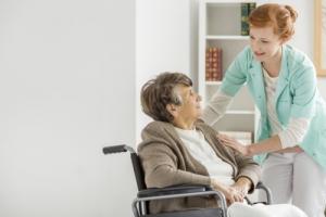 caregiver taking care of a senior