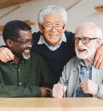 group of elders laughing